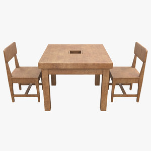 seater dining table 3D model