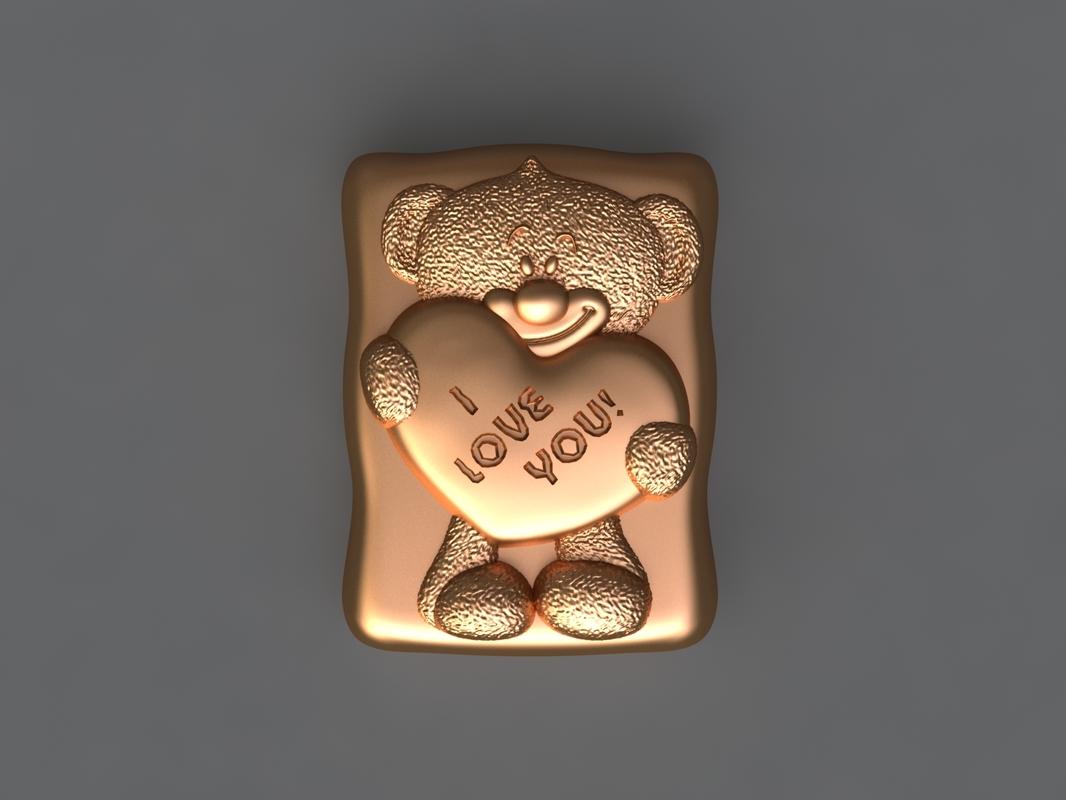 3D model bear mold hand