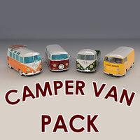 Low-Poly Cartoon Camper Pack