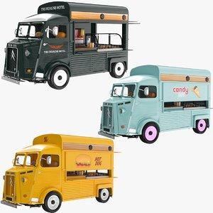 food trucks 3D