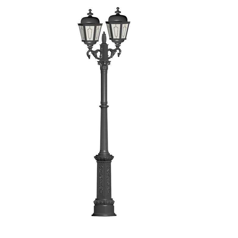 cast iron lantern 3D model