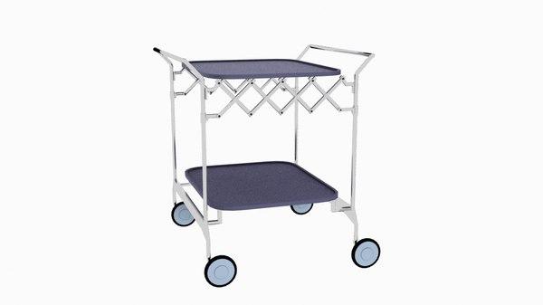 kartell gastone trolley 3D