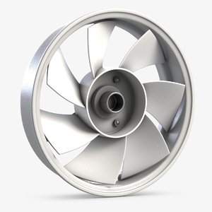 3D small ventilation fan 1 model