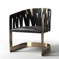 3D kara mann barrel chair design
