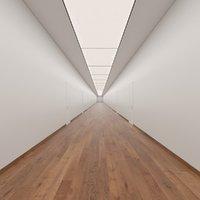 hallway scene 3D model