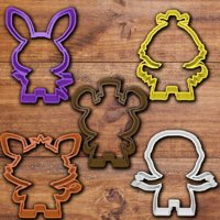 3D fnaf cookie cutter set