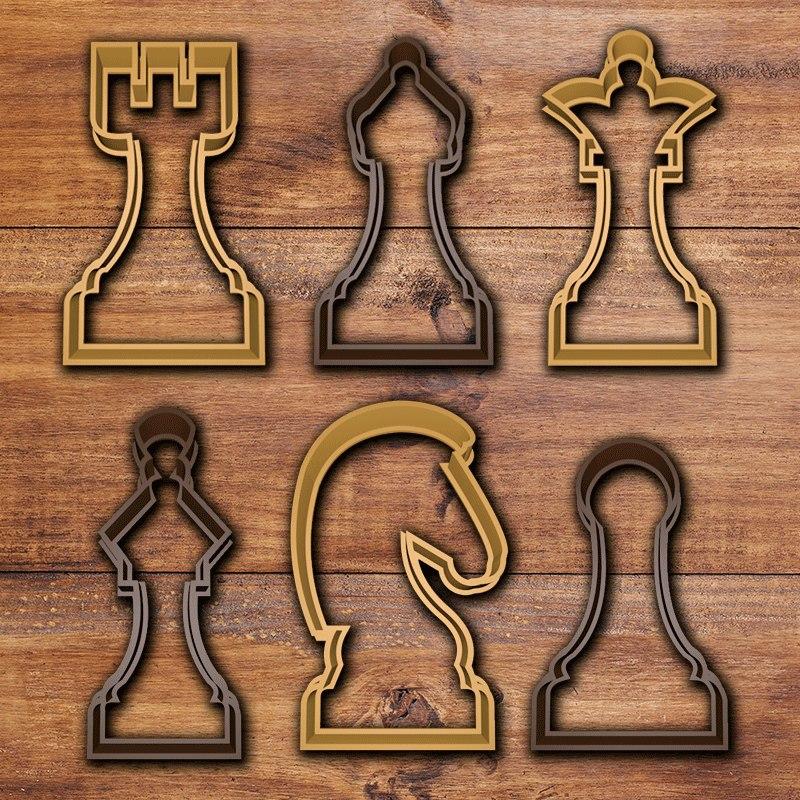 chess cookie cutter set 3D