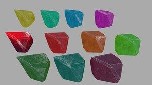 crystal 5 3D model