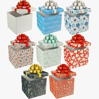 3D set gifts christmas present model