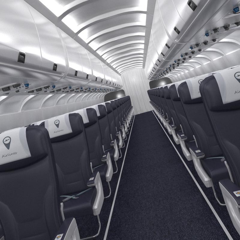 airplane interior 3D