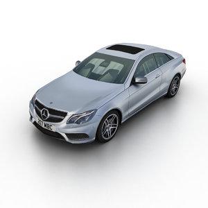 2014 mercedes-benz e-class coupe 3d max
