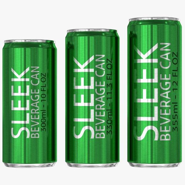3D sleek beverage