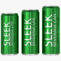 3D sleek beverage