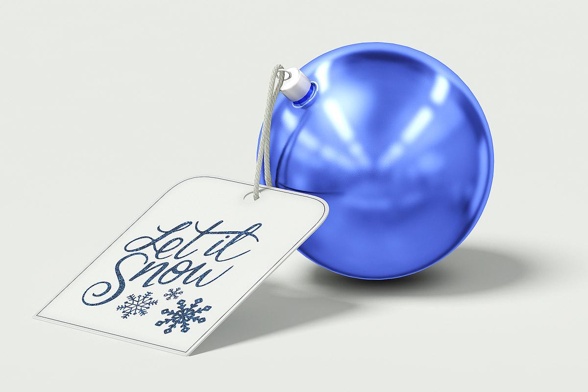 3D blue christmas bauble