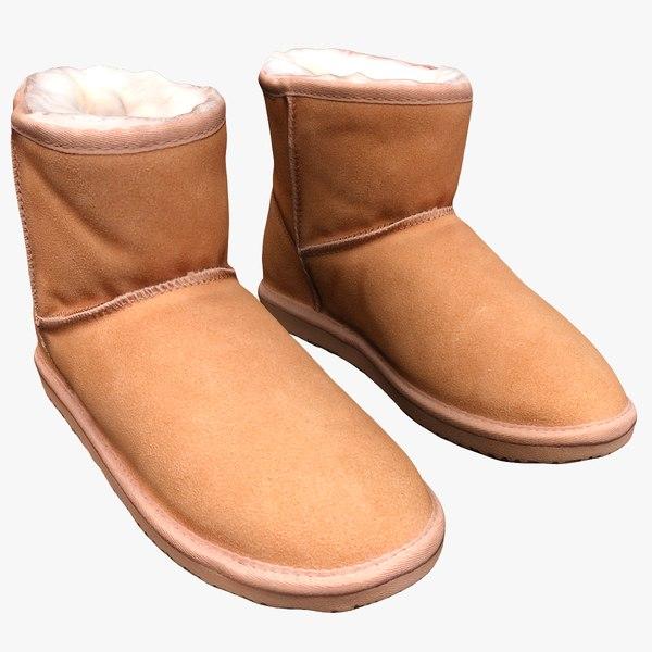 3D model winter boots