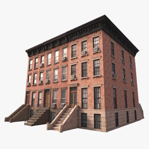 3D new york building