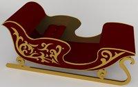 3D model treno santa claus