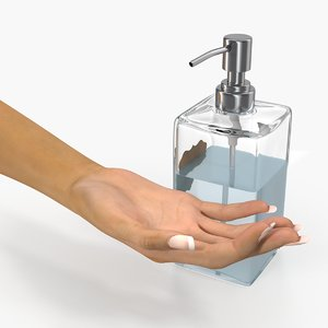 lotion dispenser female hand model