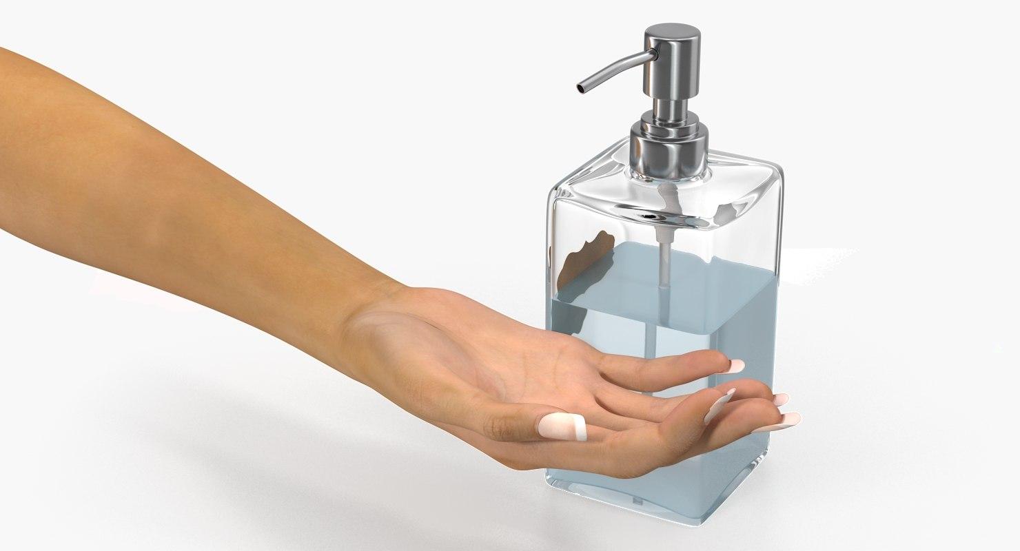 lotion dispenser female hand model