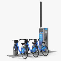 Sharing System Citi Bike Pay Station with Bicycles