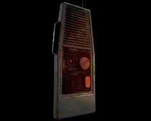 3D low-poly walkie talkie