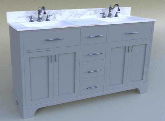3D model vanity bathroom