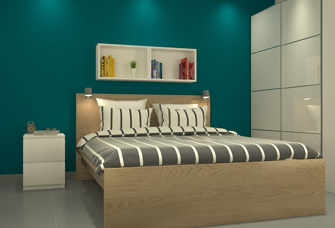 bedroom parquet 3D model