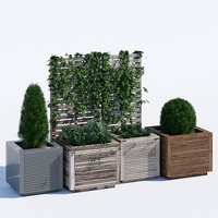 3D model garden trellis