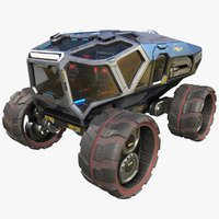 Sci-fi Exploration Rover Vehicle