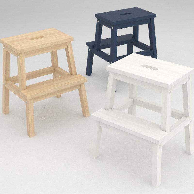 3d ikea bekvam stool
