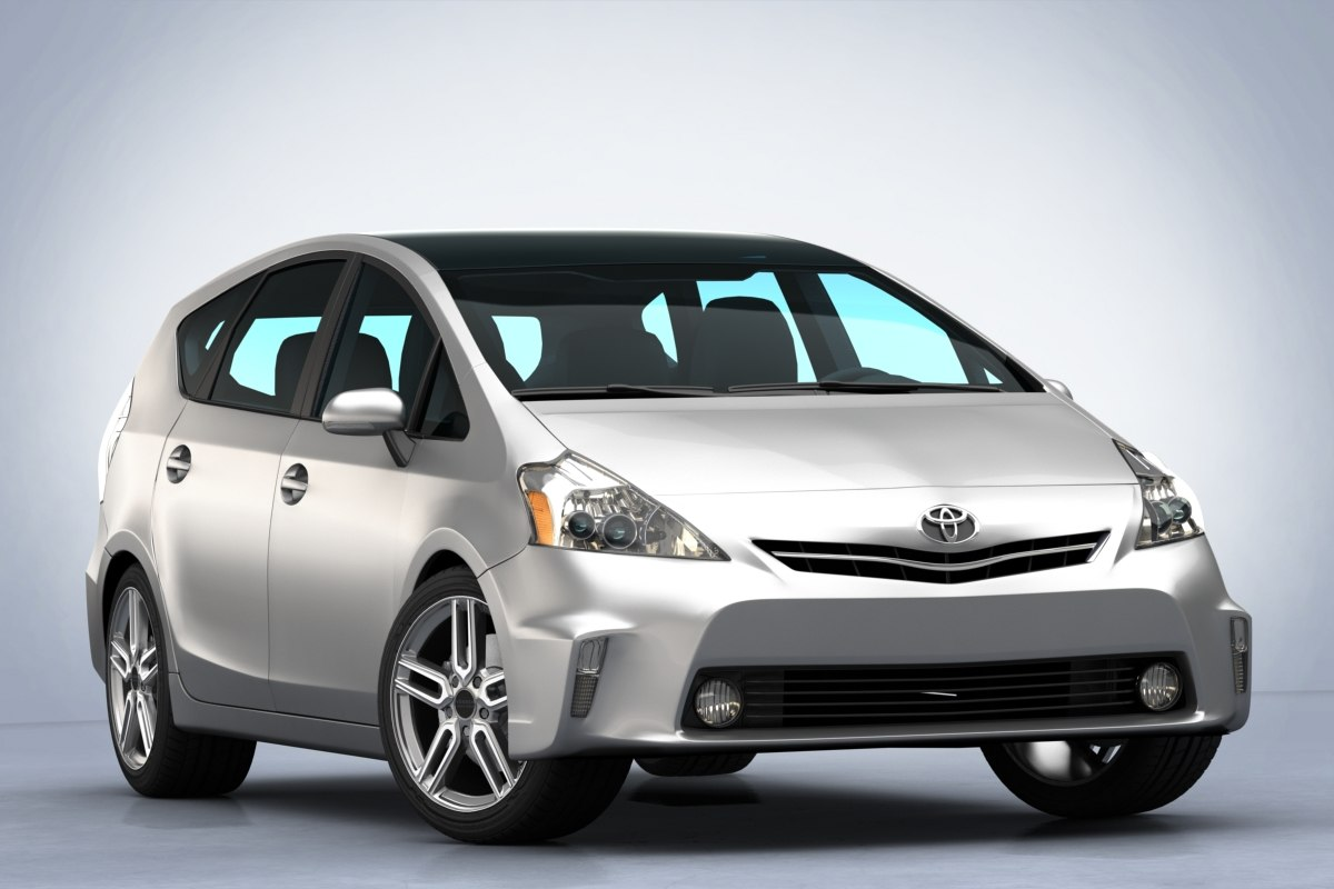 3D toyota prius 2011 car model