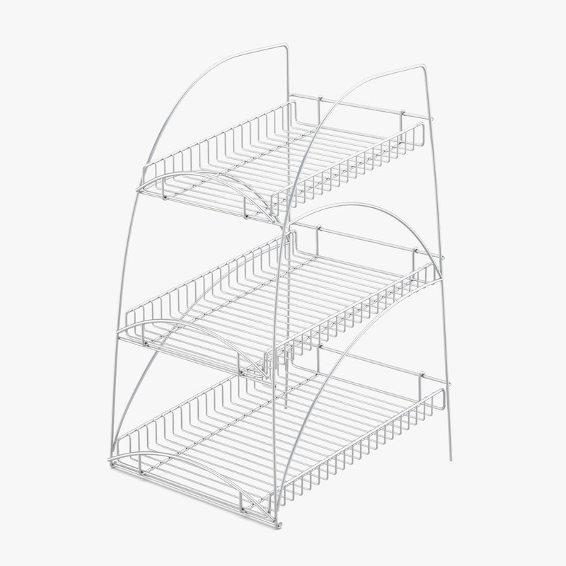 supermarket shelving wire 3D model