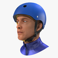 skate helmet head 3D model