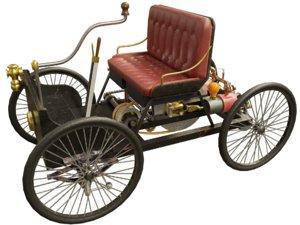 retro steam steampunk 3D model