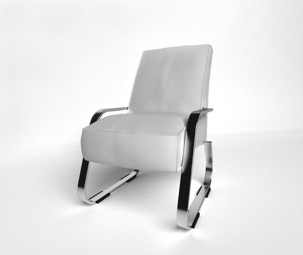 3D armchair chair comteporary model