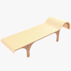 minimalist divan chaise lounge 3D model