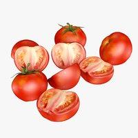 3D cherry tomato sliced