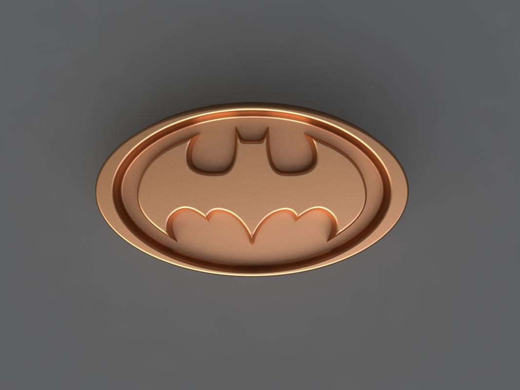 3D batman mold hand model