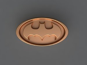 3D batman mold hand model