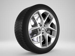 seat leon rim 3D model