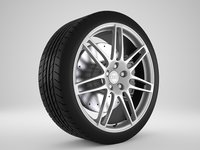 car rim rs4 3D model