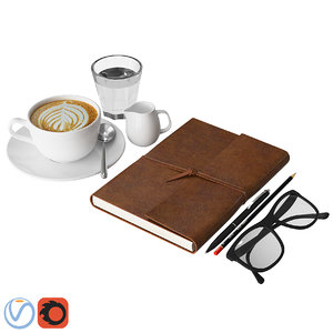 3D model decorative coffee notebook