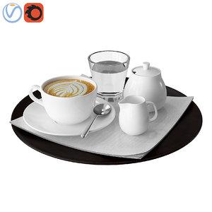 3D decorative coffee tray