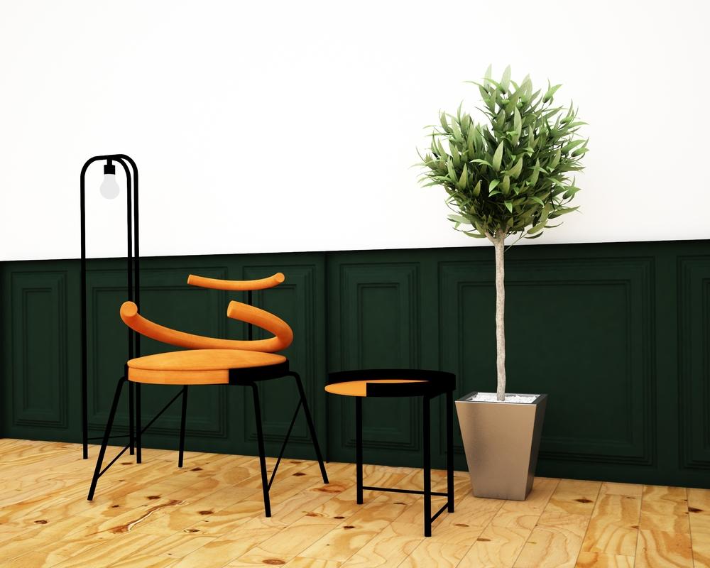 art chair 3D model
