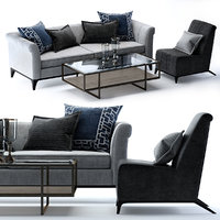Bernhardt Burnham Sofa and Austin Chair