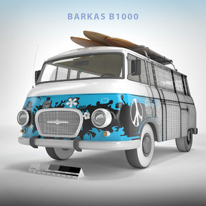 barkas vans b1000 3D