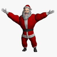 3D model cartoon santa claus 2