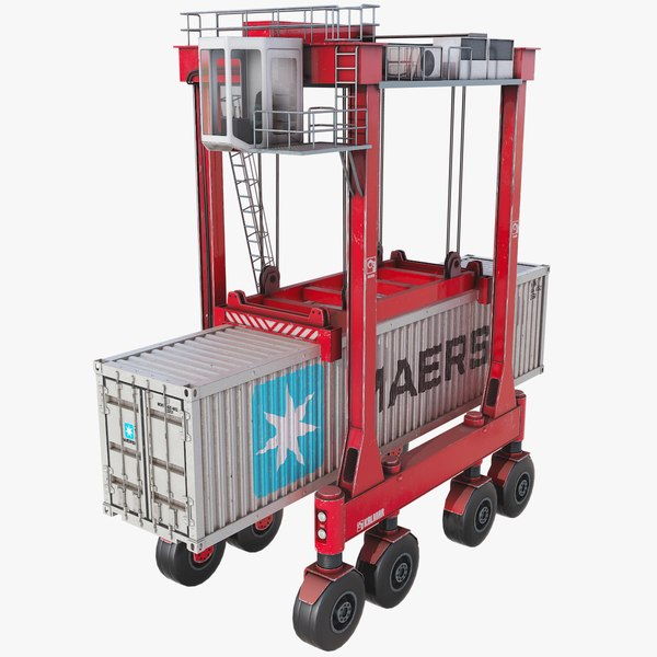 3D kalmar straddle carrier container