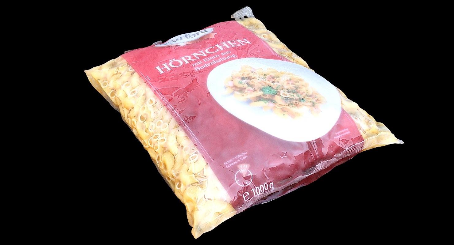 3D pack noodles model