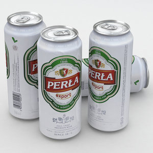 3D beercan beverage model